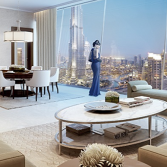 Address Opera 3 Bedrooms with Burj Khalifa views