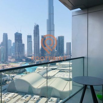 2Br,  Fully Furnished With Services,  Fountain & Burj Khalifa View