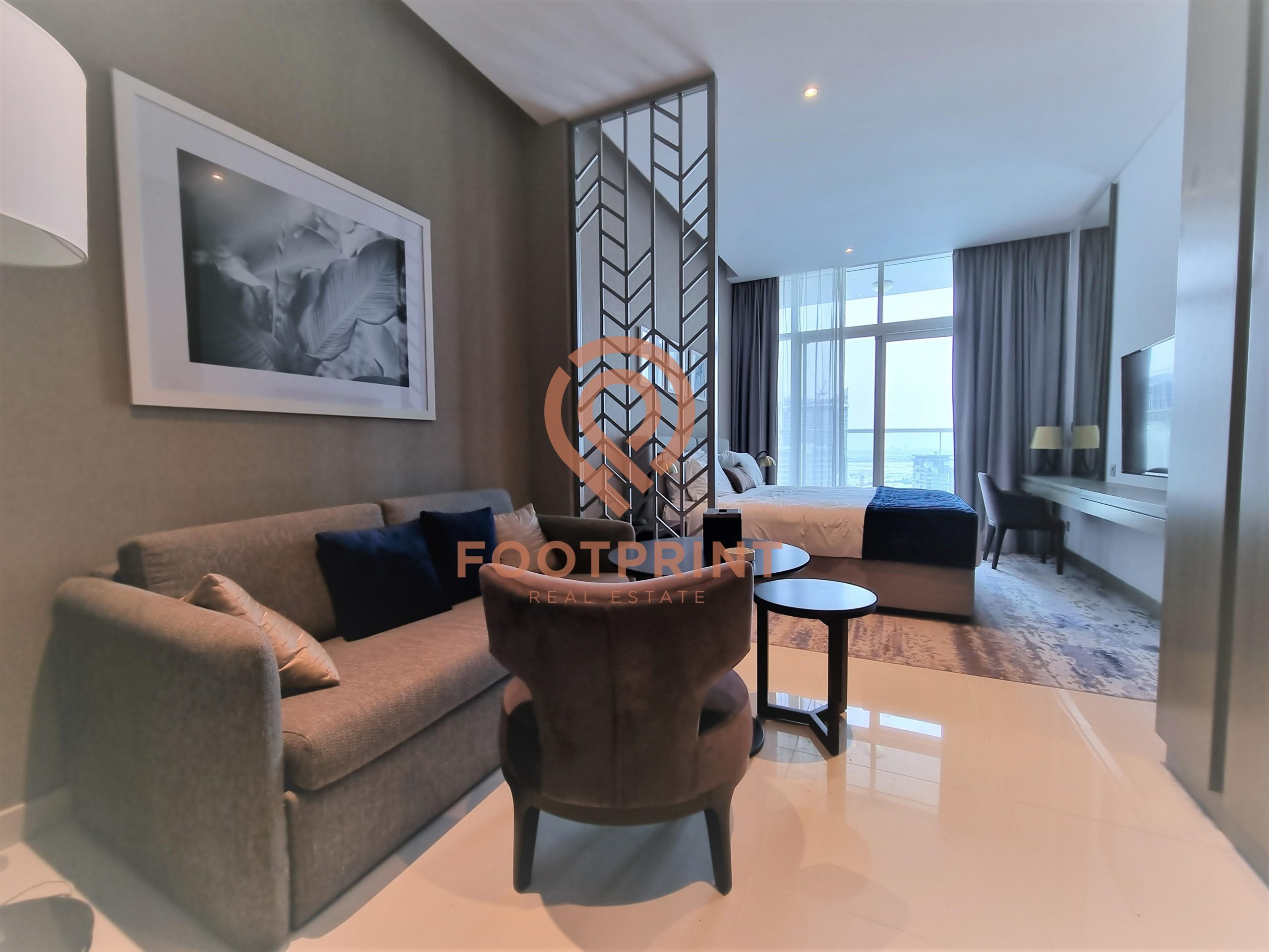 Luxurious Studio | Brand New | Water View | Fully furnished
