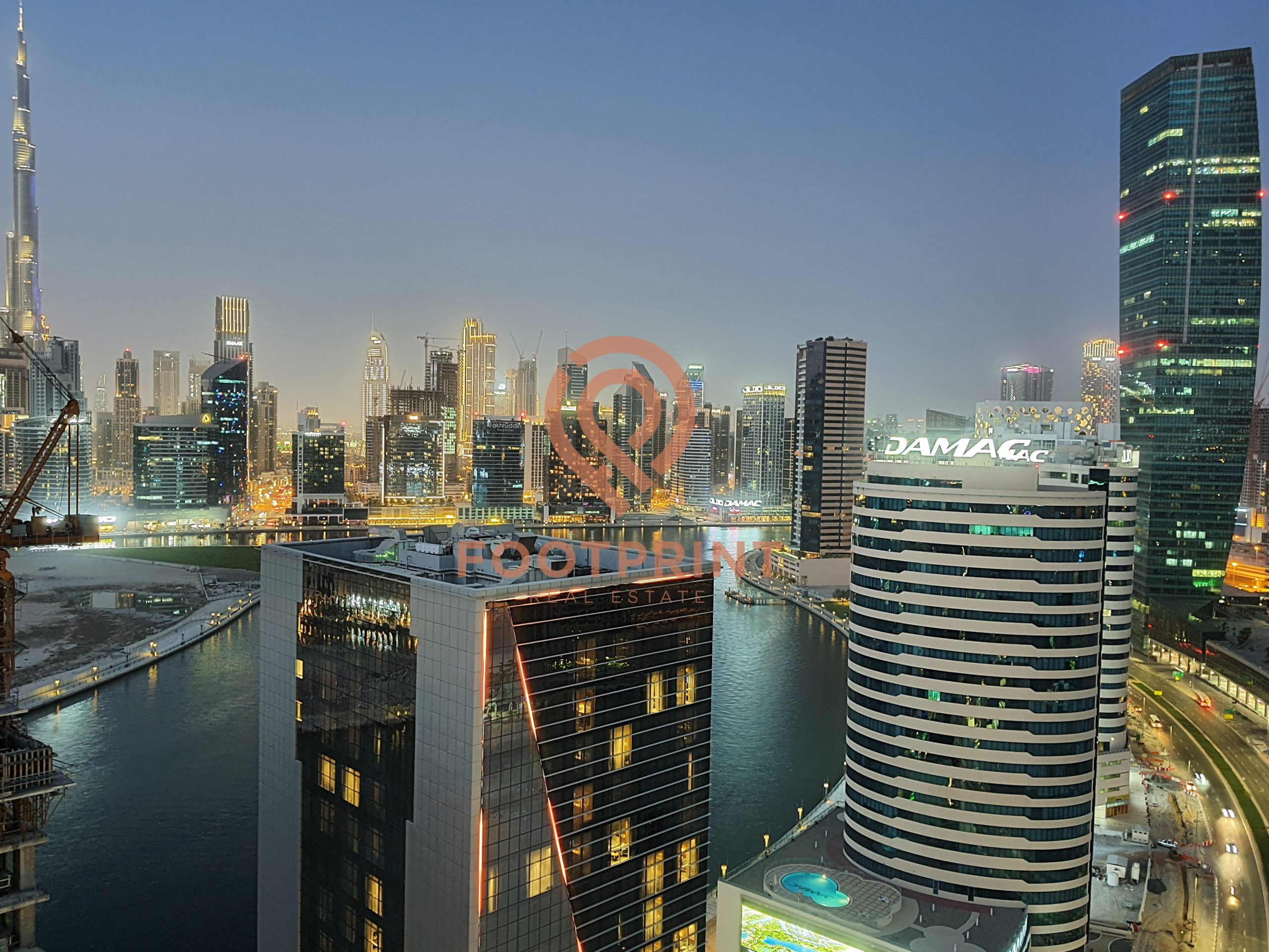 Full Canal and Burj view-Brand New – Furnished – Higher Floor